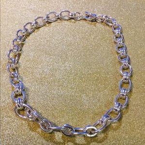 Brooks Brothers Shiny silver tone Link choker